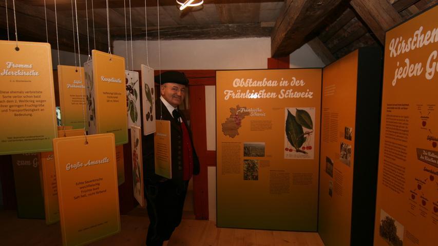 ...informiert eine Dauerausstellung über den Obstanbau in der Fränkischen Schweiz.