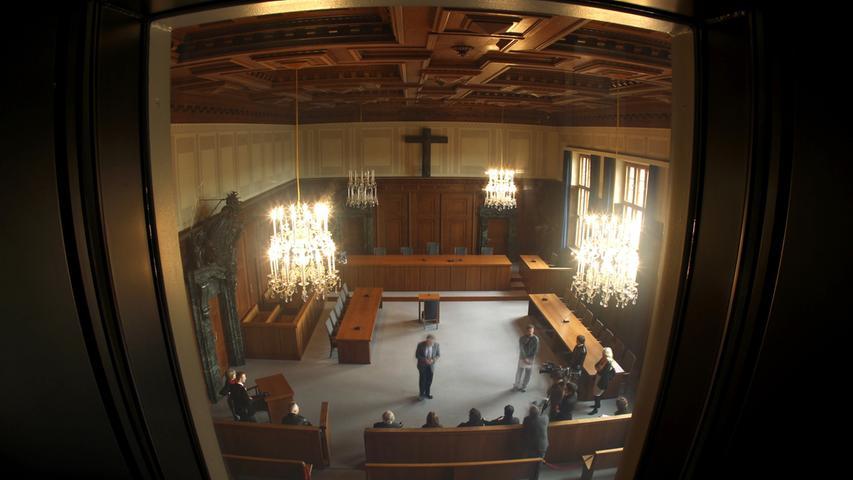 Der Blick in den Schwurgerichtssaal 600 heute. Am 21. November 2010 wird die Informations- und Erinnerungsstätte