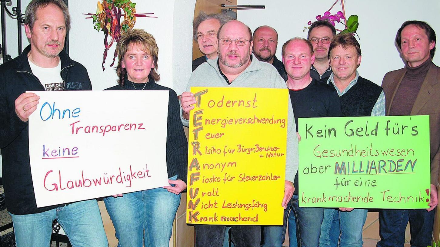 Den Bau eines neuen Funkmasten wollen Nankendorfer Bürger unbedingt verhindern.