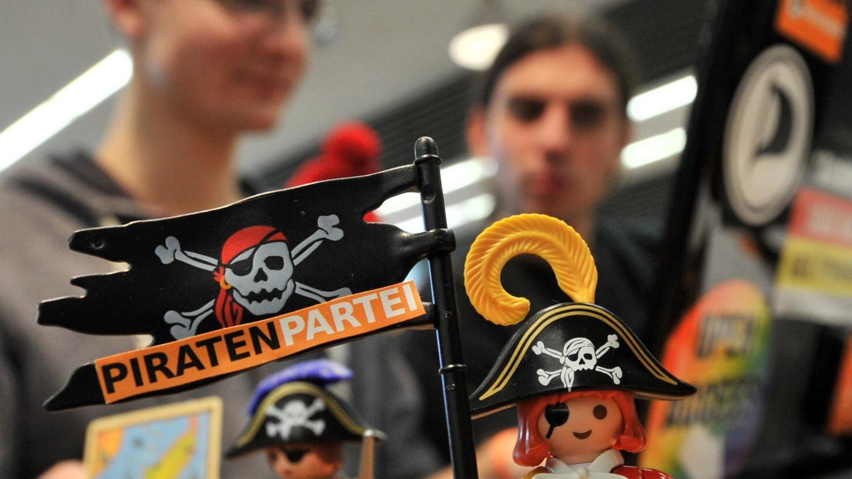 Auch Playmobil-Piraten waren auf dem Bundesparteitag der Piratenpartei ein wichtiges Utensil.