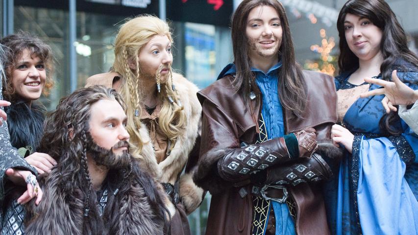 ... oder als Zwerg, jeder Anhänger von Tolkiens Welt rund um das Auenland fand das passende Kostüm für diesen besonderen Abend.