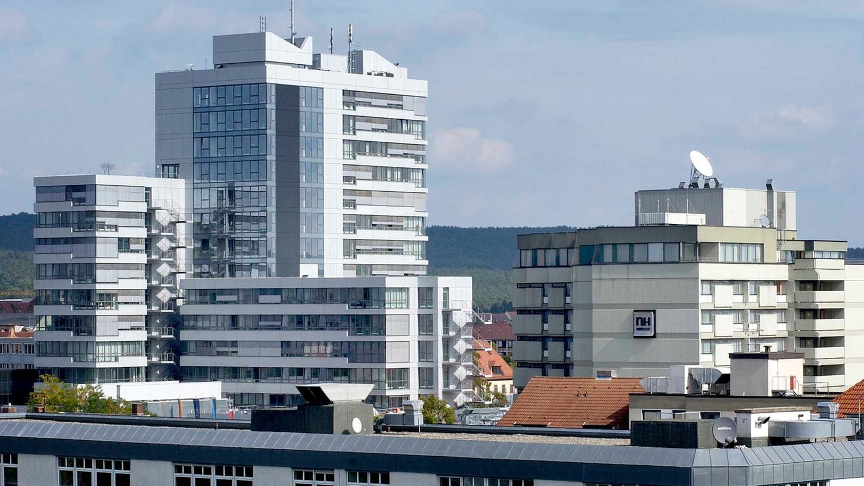 Das Rathaus von Erlangen.