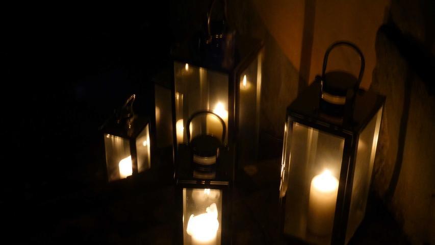 Nach dem Spektakel ging es in Sugenheim beschaulich-romantisch in das Neue Jahr.