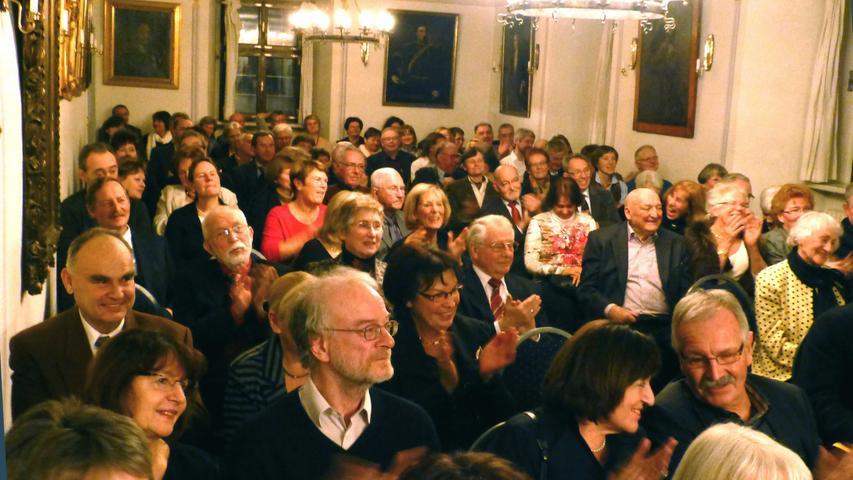 …wie ein begeistertes Publikum im Rittersaal mit seinem besonderen Ambiente.