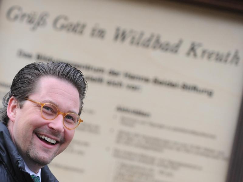 CSU-Generalsekretär Andreas Scheuer in Wildbad Kreuth.