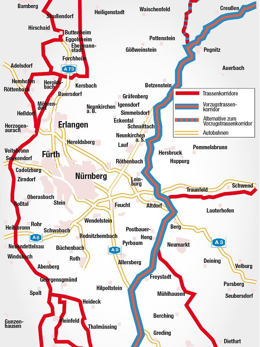 Amprion ist beim Bau der 450 Kilometer langen Trasse von  Bad Lauchstädt in Sachsen-Anhalt nach Meitingen in Bayern - die