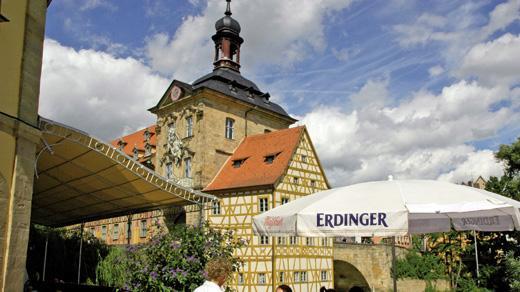 Restaurant Brudermuhle Gastgarten Bamberg Bier By