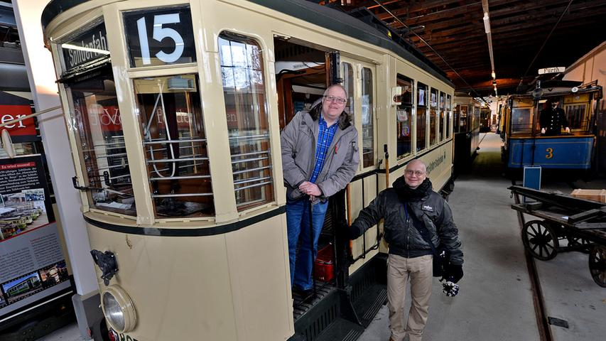 DATUM: 29.01.2014..RESSORT: Lokales ..FOTO: Horst Linke ..MOTIV: Altes  Straßenbahndepot Sankt Peter - Jetziges Straßenbahnmuseum..