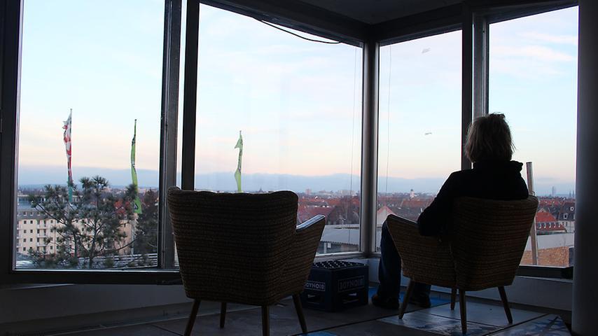 Einen solch traumhaften Ausblick über die Stadt bieten die wenigsten Büros in Nürnberg.