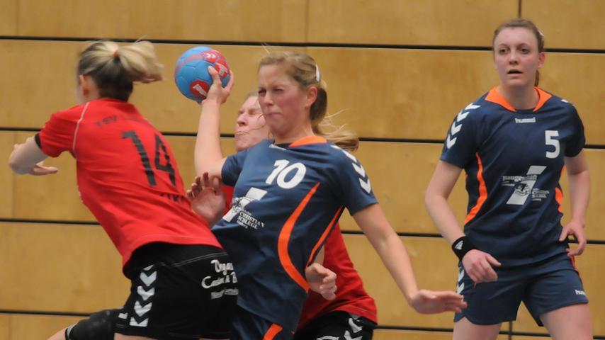 BOL-Handballdamen der SG Schwabach/Roth punkteten gegen Lichtenau