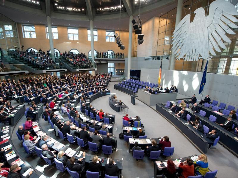 Die aktuelle Entwicklung in der Ukraine ist heute Thema im Bundestag.