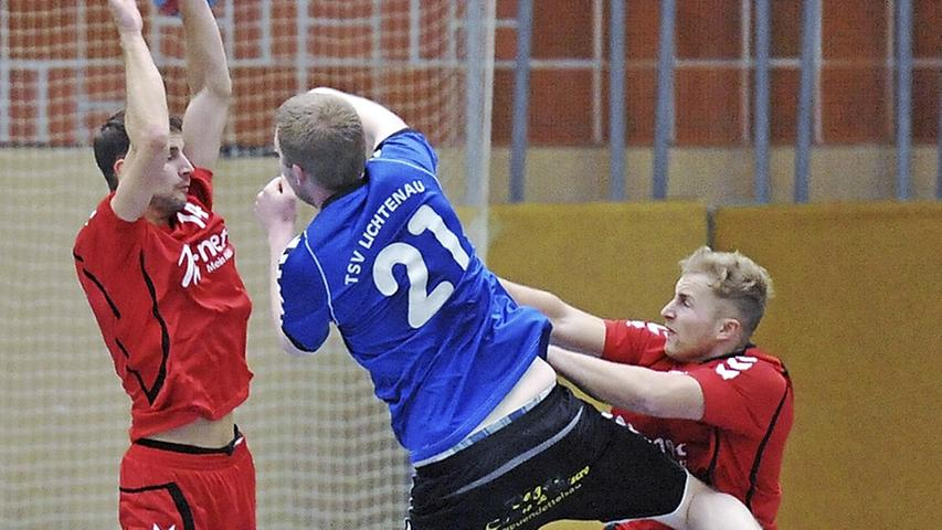 BOL-Handballer der SG Schwabach punkteten gegen Lichtenau
