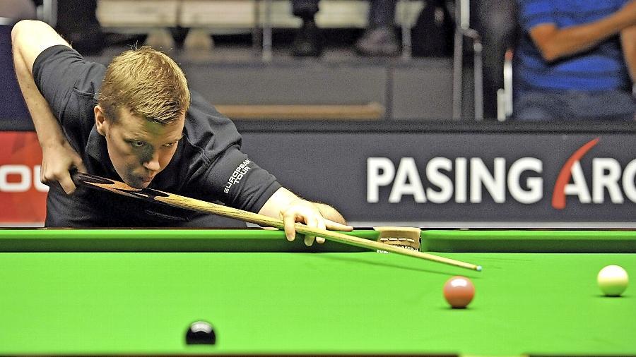 Bei der Paul Hunter Classic in Fürth, hier im vergangenen Jahr, fühlt sich Patrick Einsle wohl.