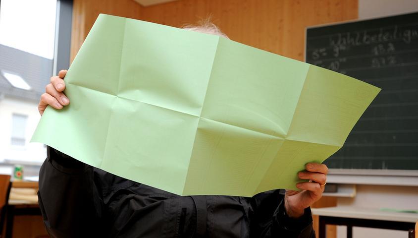 FOTO: Hans-Joachim Winckler DATUM: 16.3.2014..MOTIV: Kommunalwahl in Fürth -  Wahllokal in der Kiderlinschule