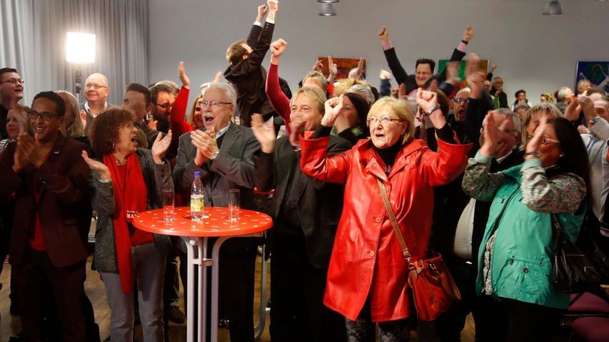 Jubel und Trauer bei den Wahlpartys in Nürnberg