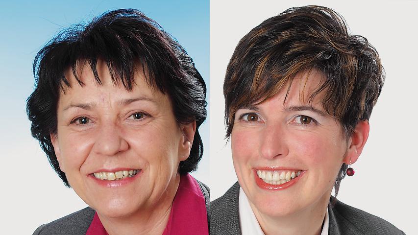 Beim Frauenduell in Neunkirchen am Sand unterlag Hannelore Hensel (CSU, links) klar Martina Baumann (SPD) von der SPD. Baumann erhielt 63 Prozent der Stimmen.