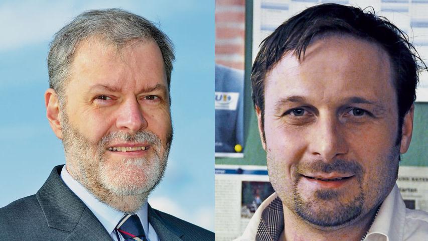 In  Ammerndorf gewinnt Alexander Fritz (FW, links) mit 57 Prozent gegen Günther Müller (CSU).