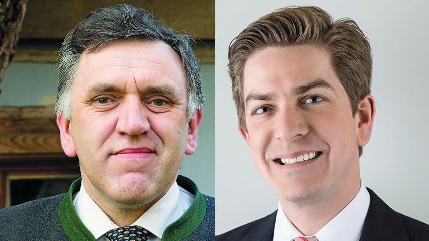 In Langensendelbach hat Oswald Siebenhaar (UWB, links) die kommenden Jahre das Zepter in der Hand. 58,7 Prozent der abgegebenen Stimmen entfielen auf den Landwirt. Simon Beringer (ÜFWG/SPD) hatte in der Stichwahl das Nachsehen.