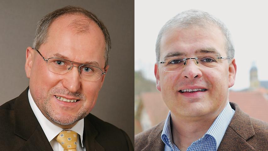 Die Geschicke Gößweinsteins lenkt künftig Hanngörg Zimmermann (rechts) (FW/BG/BMG). Mit 53,66 Prozent löst er Amtsinhaber Georg Lang (CSU/JuF) ab, der 18 Jahre lang Bürgermeister war.