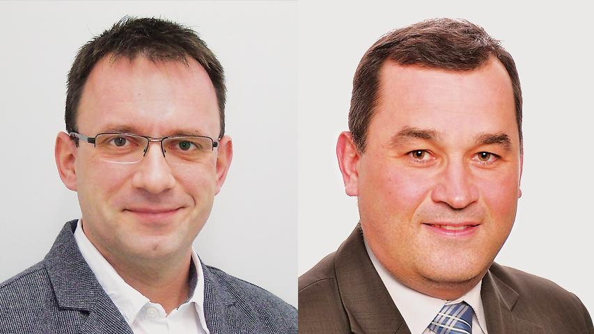 In Ahorntal setzte sich Gerd Hofmann (Freie Bürger Ahorntal und Freie Wähler, links) mit 55 Prozent gegen Thomas Nägel (CWU) durch.