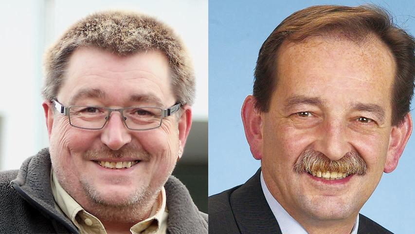 In Dietenhofen gewinnt Rainer Erdel (WGO, rechts) mit 63 Prozent der Stimmen gegen Rainer Pfeiffer von der PWG.