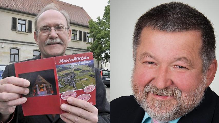 In Marloffstein unterlag der CSU-Kandidat Rainer Schmitt (links) mit 43 Prozent der Stimmen dem Adlitzer Eduard Walz (Freie Wähler)