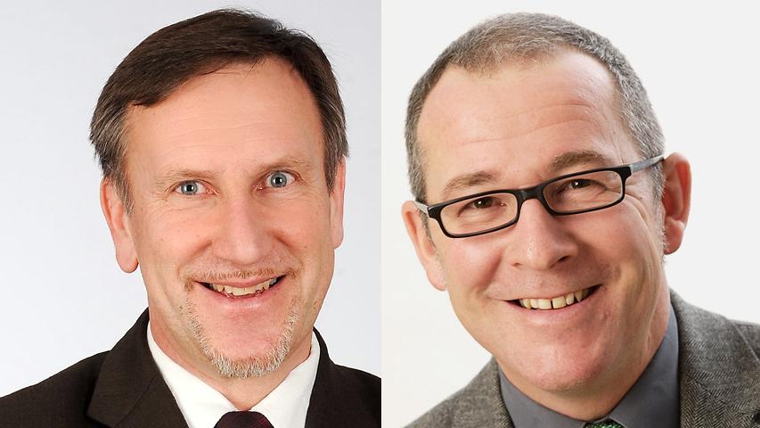 Die einzige Stichwahl im Landkreis Roth konnte der glückliche Felix Fröhlich (links) für sich entscheiden. Im Stechen gegen Klaus Popp von den Freien Wählern erhielt Fröhlich 57 Prozent der Stimmen und tritt am 1. Mai das Bürgermeisteramt in Rohr an.