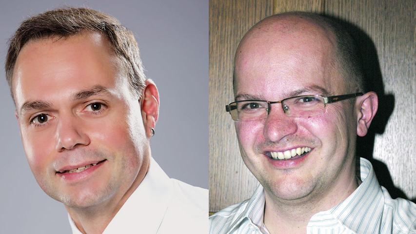 In Obernzenn entscheidet Markus Heindel (CSU, links) die Stichwahl gegen Reiner Hufnagel (Freie Wähler Unteraltenbernheim) mit 59 Prozent der Stimmen für sich.