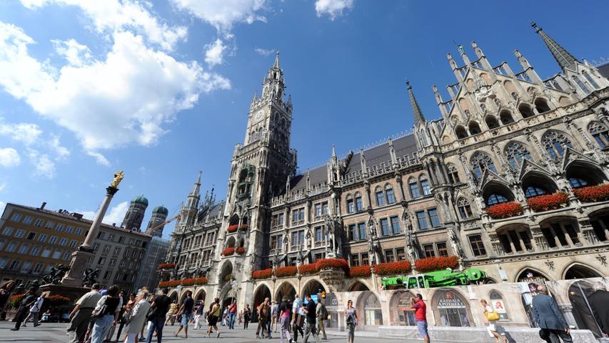 Auch in der bayerische Landeshauptstadt geht es realtiv sicher zu. Hier wurden 7828 Straftaten pro 100.000 Einwohner verübt. Insgesamt bilanzierte die Polizei 110.208 Fälle.