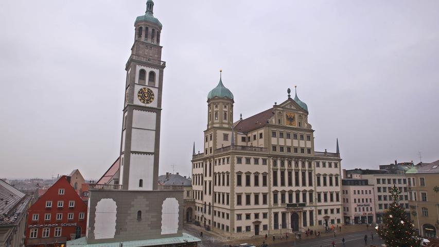 In Augsburg erfasste die Polizei 23.188 Straftaten, was 8385 Fälle pro 100.000 Einwohner sind.