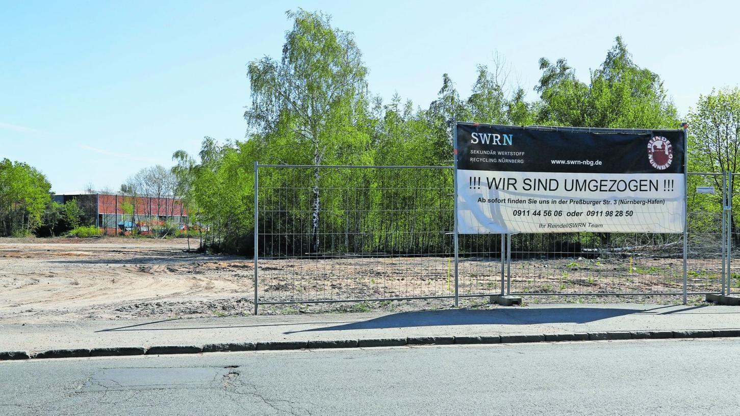 Die meisten Recyclingfirmen haben längst das Feld geräumt, die Birken holen sich die sandigen Flächen zurück.