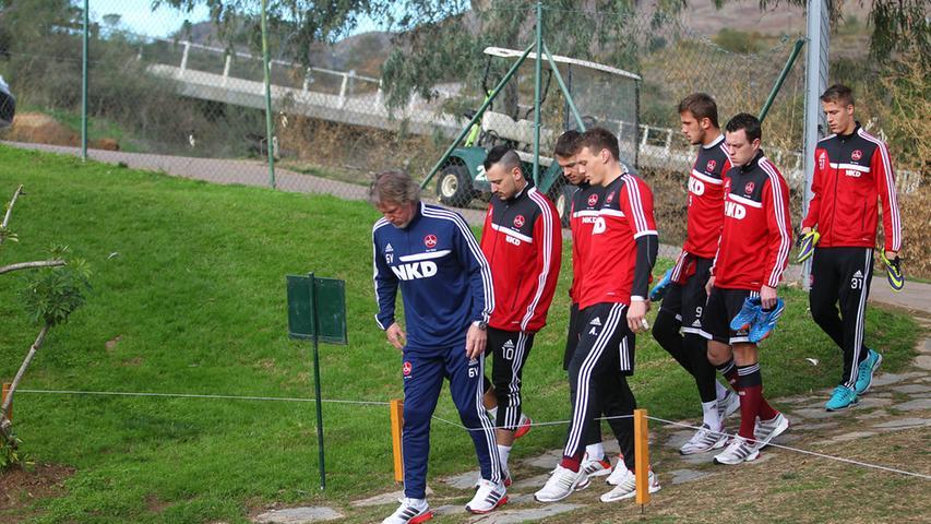 Im spanischen La Cala de Mijas lud der FCN seinen Akku wieder auf, um anders als auf diesem Bild einen Aufwärtstrend einzuleiten.