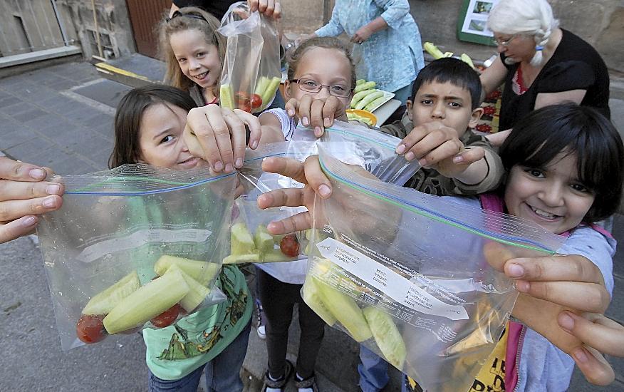 """Auch Aktionen wie die """"gesunde Pause"""" für Schulkinder wurden durch das Förderprogramm angestoßen."""