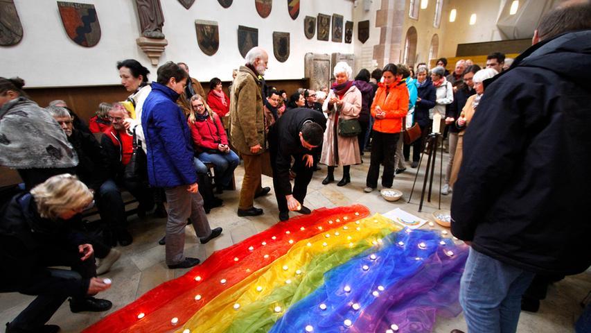 Gemeinsam beteten sie für Frieden, Respekt und Toleranz.