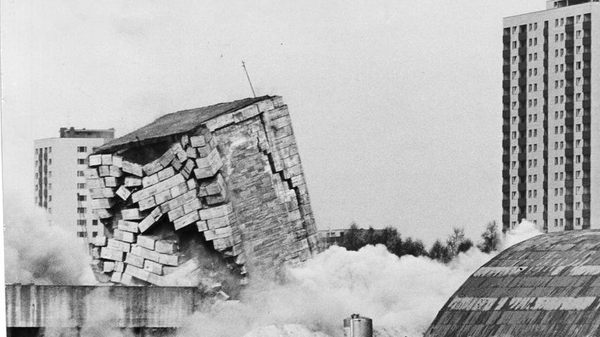 Sechs der insgesamt 11 Türme wurden 1966 dem Erdboden gleich gemacht. Die restlichen fünf aber...