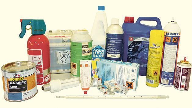 Das ist alles Sondermüll. Entsprechende Stoffe können bei den verschiedenen Sondermüll-Aktionstagen in Altmühlfranken abgegeben werden.