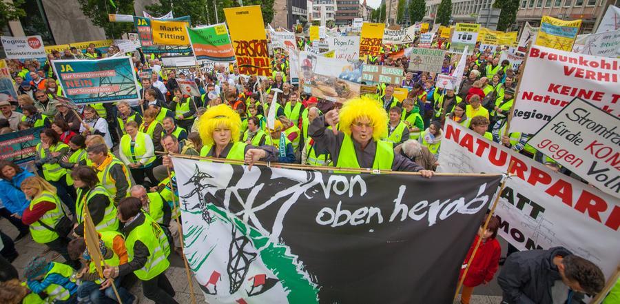 Energiewende ja, Stromtrasse nein: Groß-Demo in Nürnberg