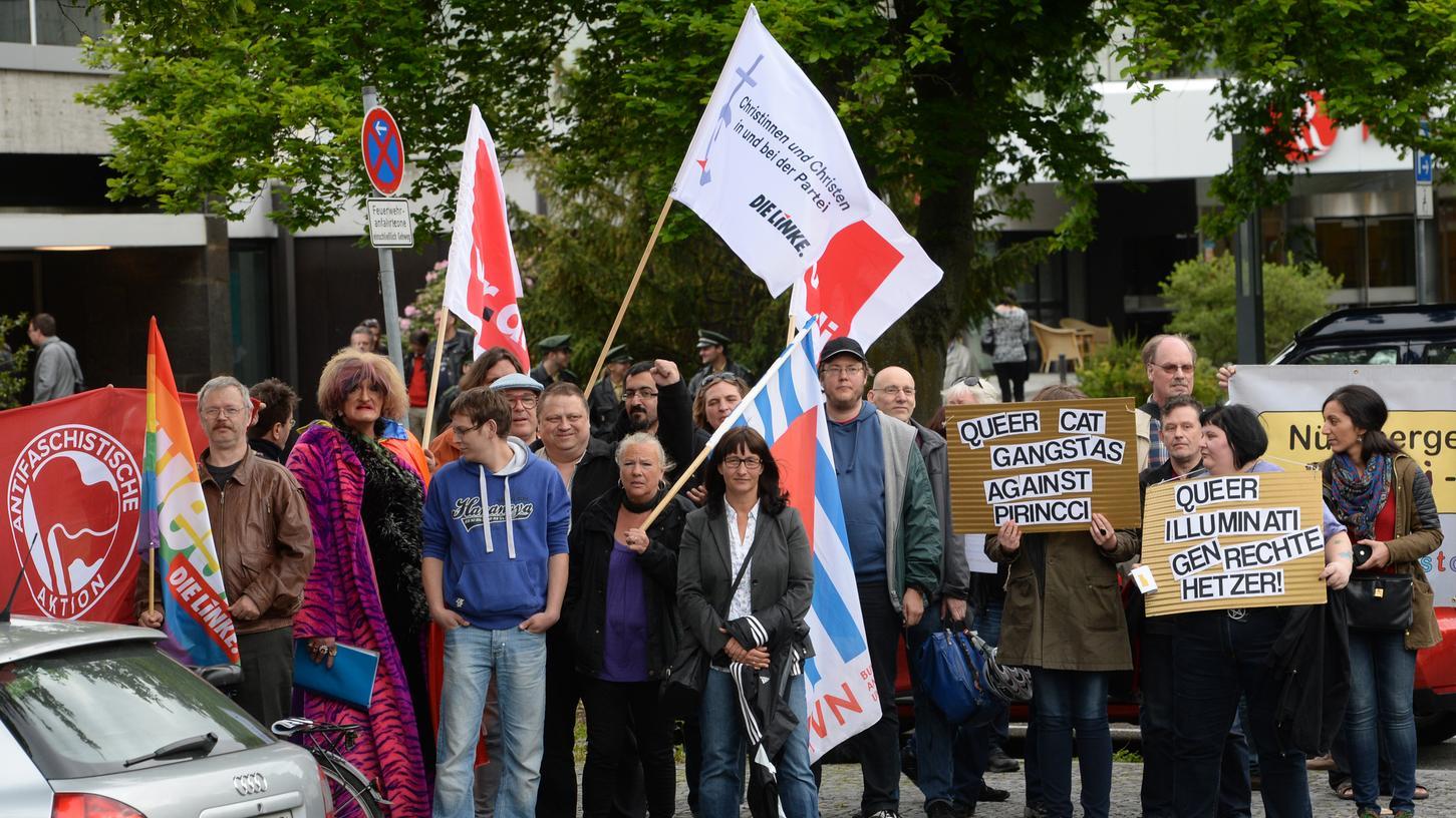Bereits zum letzten AfD-Parteitag in Nürnberg gingen viele Gegner auf die Straße.
