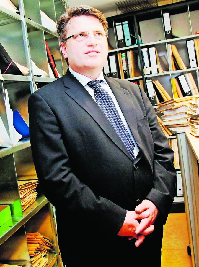 Der neue bayerische Justizminister Winfried Bausback war gestern zu Besuch.