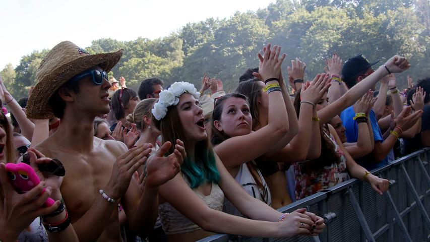 Die Fans vor der Alternastage am Montagnachmittag.
