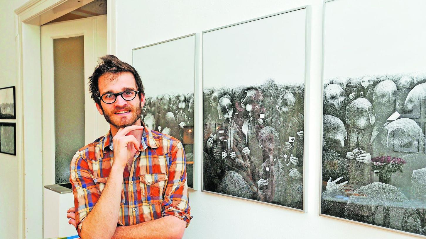 Düstere Weltsicht: Der haarfeine, ironische Strich regiert in den Werken des aus Metz stammenden Künstlers Jean Chauvelot.