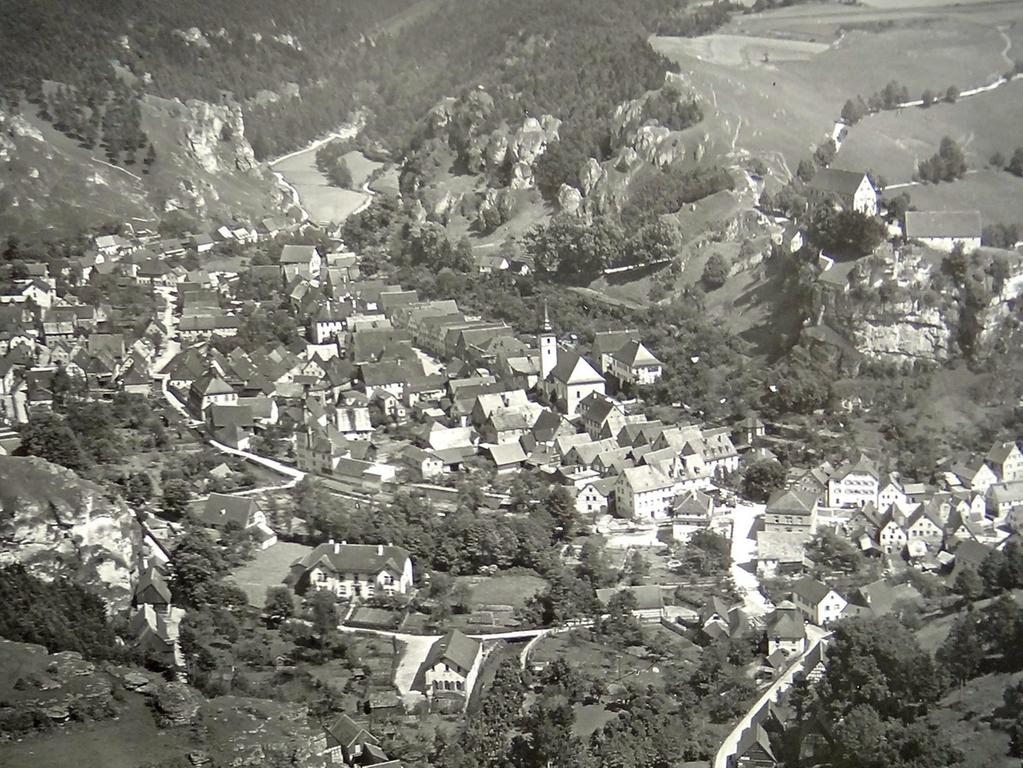 Historisches Foto, aufgenommen von Wilhelm Heinz ca. 1930 in der Fränkischen  Schweiz, digitalisiert von Max Legien