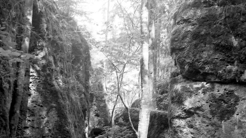 Historisches Foto, aufgenommen von Wilhelm Heinz ca. 1930 in der Fränkischen  Schweiz, digitalisiert von Max Legien Druidenhain