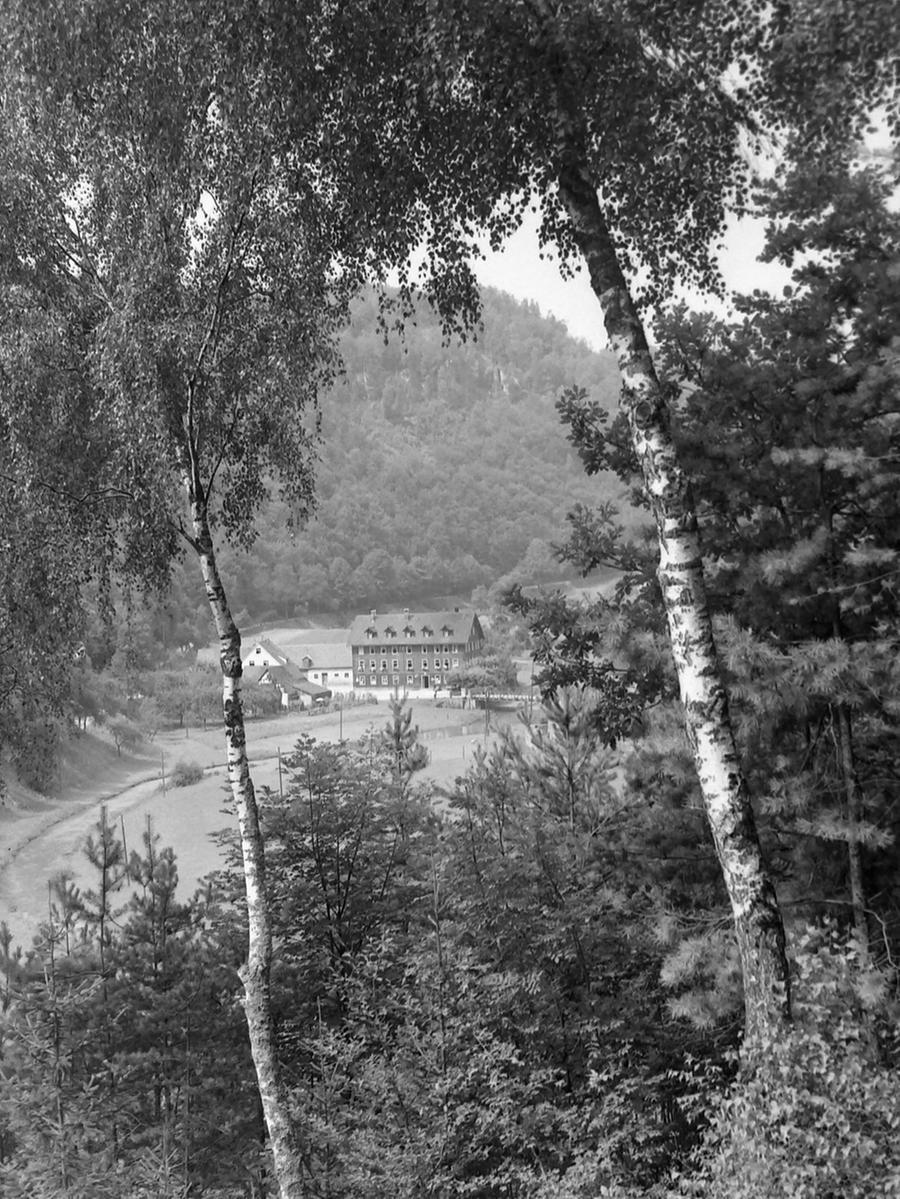 Historisches Foto, aufgenommen von Wilhelm Heinz ca. 1930 in der Fränkischen  Schweiz, digitalisiert von Max Legien  Behringersmühle