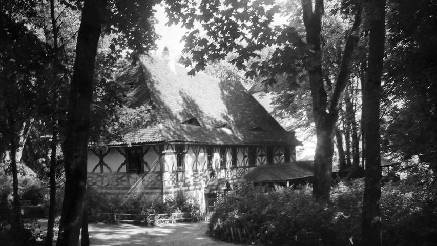 Historisches Foto, aufgenommen von Wilhelm Heinz ca. 1930 in der Fränkischen  Schweiz, digitalisiert von Max Legien Burggailenreuth