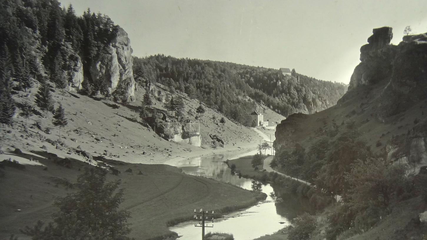 Wo hat Wilhelm Heinz einst dieses historische Foto in der Fränkischen Schweiz aufgenommen?