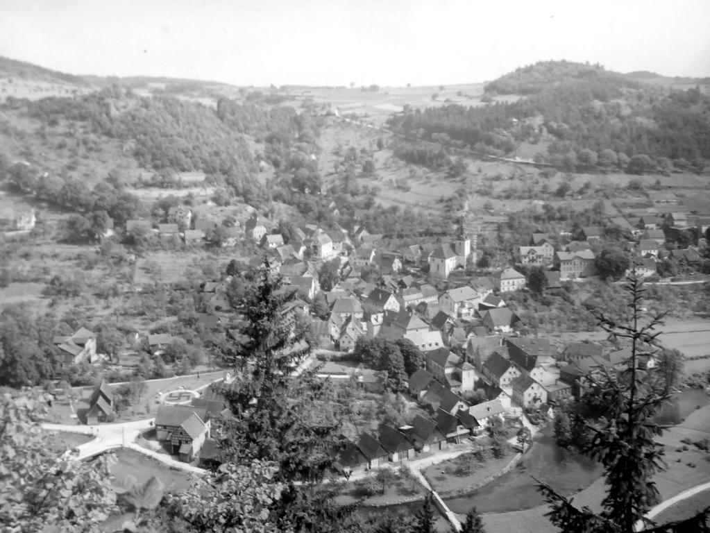 Historisches Foto, aufgenommen von Wilhelm Heinz ca. 1930 in der Fränkischen  Schweiz, digitalisiert von Max Legien hier: Muggendorf