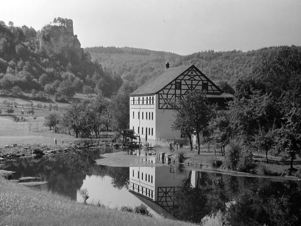 Historisches Foto, aufgenommen von Wilhelm Heinz ca. 1930 in der Fränkischen  Schweiz, digitalisiert von Max Legien hier: Wöhrmühle