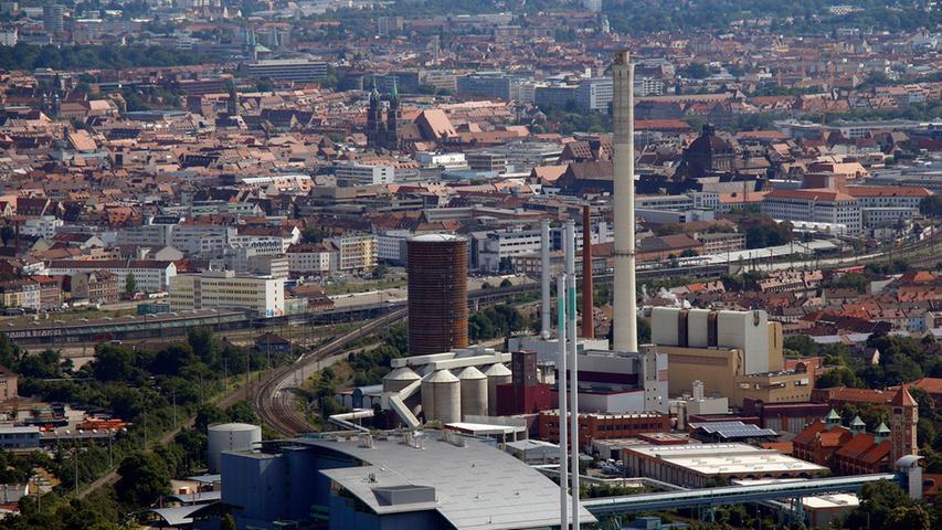 Oben am Fernmeldeturm: Traumhafter Blick über Nürnberg