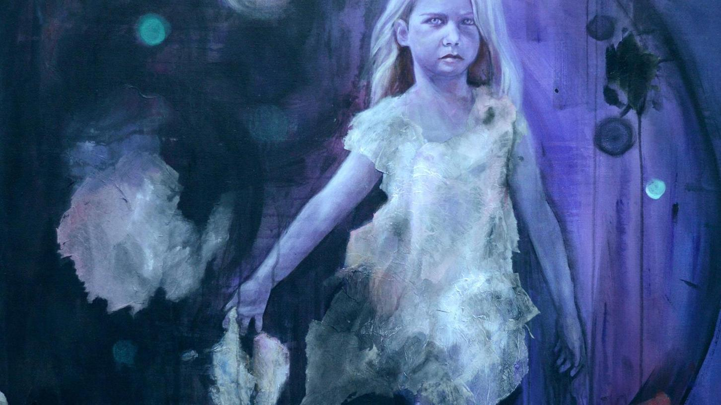 Mit traumwandlerischer Sicherheit arbeitet die Malerin in Kindergesichtern wie diesem Stimmungen heraus.